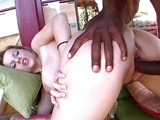 Pale breasty milf receives her snapper rammed by black cannon
