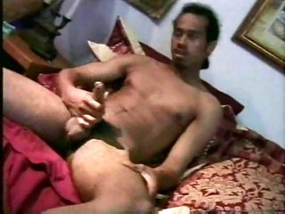 Two guys wanking