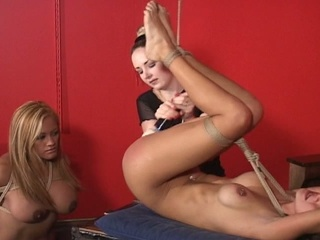 Horny lesbian babes punishe and fuck sexual slave
