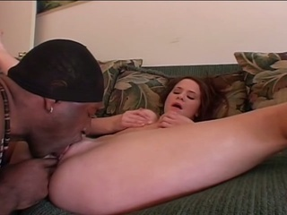 Endures darksome cock in her wet crack so she gets sticky cum