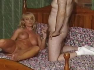 British slut Louise Hodges gets fucked by fat bald guy