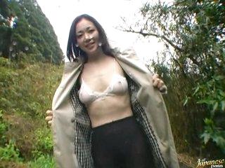 Horny Asian MILF Yukako Shinohara Gets Fucked Outdoors