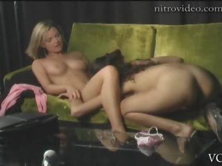 Sexy Lesbo Honeys Cassie Courtland and Victoria Sin Do The Scissors