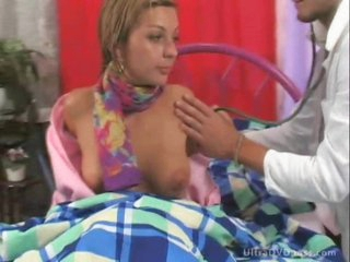 Stunning Blonde Bitch Gets Sixty-Nined and Screwed By Lustful Male Nurse