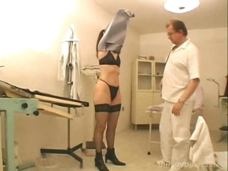 Perky Boobed Brunette Floozy Acquires Drilled and Facialized at the Doctor's Office
