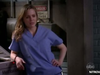 Sexy Blonde Melissa George Takes Off Her Nurse Robe