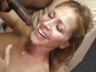 Luscious Nicole Moore gets a face full off cock juice