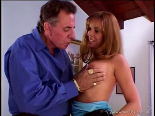 Super Horny Blonde MILF Tabitha Holt Gets Facialized In a Threesome