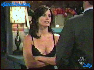 Beautiful Courteney Cox Looks Amazing In a Hawt Black Negligee