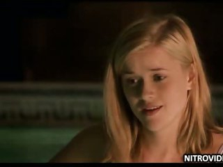 Teen Reese Witherspoon Swiming in the Pool