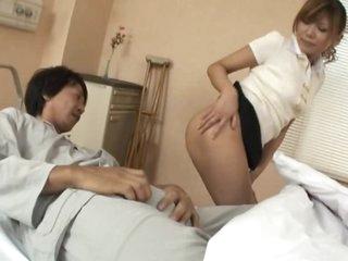 Cute Oriental MILF Aya Sucks Cock and Gets Screwed in a Hospital
