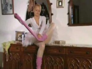 Young ballerina receives off