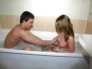 Young Couple Have Fun In Bath