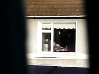 Legal age teenager Window - stripping from pink silk