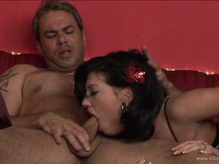 Roxy Deville gets her mouth crammed with hard pecker