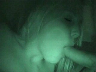 Blowjob caught on nightvision webcam