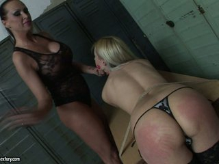 Mandy Bright spanking the ass hot blonde playgirl