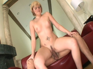 Sexy blond receives her nice butt filled with a cock