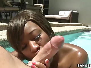 Interracial fucking with Imani Rose  in the sun