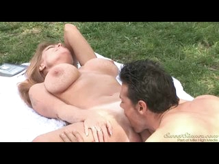 Outdoor hardcore with big tits redheaded pornstar