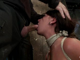 Dominated Cassandra Nix gets a mouth full of hard cock