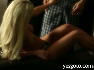 Sexy blonde big juggs babe London Regan fucked up hard