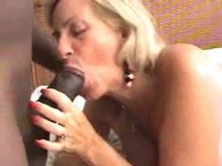 Two mature sluts make interracial porn