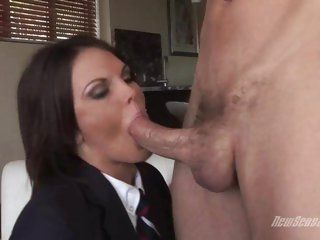 Schoolgirl Teen Brunette MacKenzee Pierce sucking