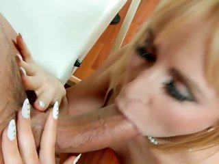 Sassy slut Aleksa Diamond drools on this tasty cock