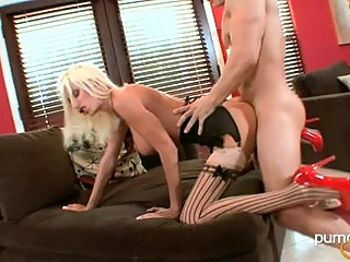 Puma Swede Love To Bring The Log To Her Beaver