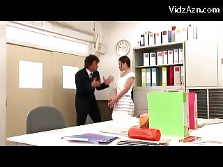 Girl In Skirt And Pantyhose Getting Her Ass Rubbed Licked Pussy Fingered In The Office