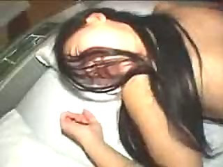 Amateur Asian girlfriend spread and thrashed