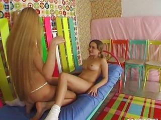 Tender lesbian teens