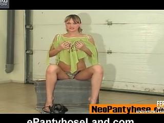 Helga videotaped whilst wearing hose