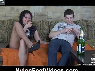 Sibylla&Vitas stunning nylon feet movie scene