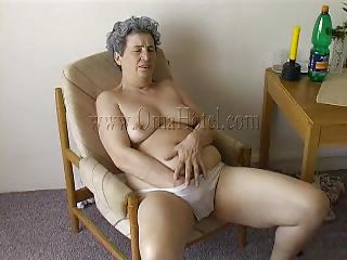 granny with her toilet pump