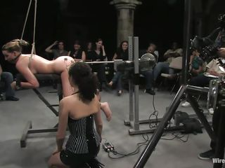 blonde milf gets machine fucked