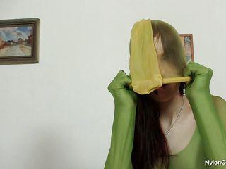horny amanda x doing solo in nylon