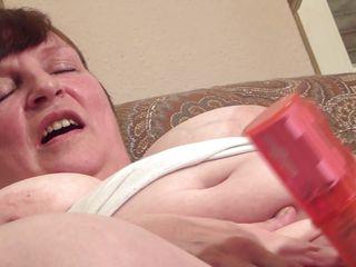 sexy grandma making herself satisfied