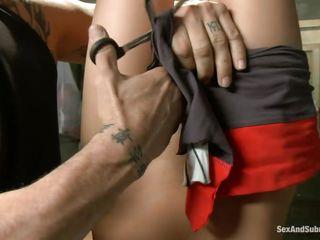 sex slave eva fenix obeys derrick pierce's dark desires