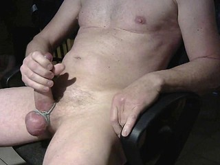 Shooting a big messy cumload all over my stomach