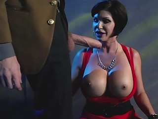 Milf bent over a car and fucked hardcore in an alley
