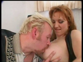 Milf redhead with wonderful titties rammed in the ass