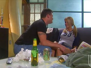 Playing Soccer Made Golden-haired Jessica Drake All Horny For Her Man's Cock