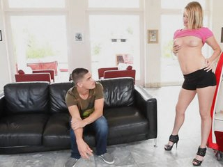 Horny Golden-haired Heather Starlet Fucking a Large Jock With Her Tight Pussy