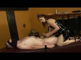 Mistress gemini shows her thrall the meaning of pain