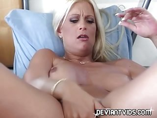Hot slut trying dildos