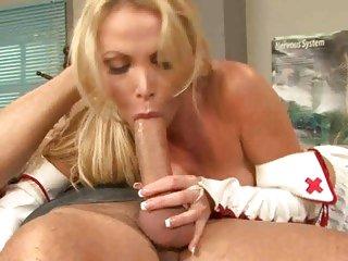 Blistering Nikki Benz gobbles down a huge dick