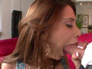 Raunchy Alexa Nicole chokes on a unbending fuck pole