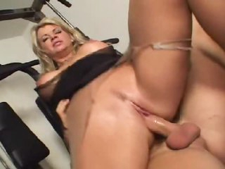 Vicky Vette the hawt milf takes dick in gym